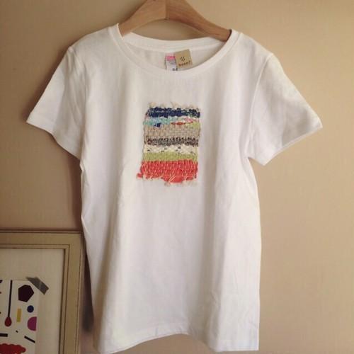 ▷sale▷裂き織り レディース Tシャツ S