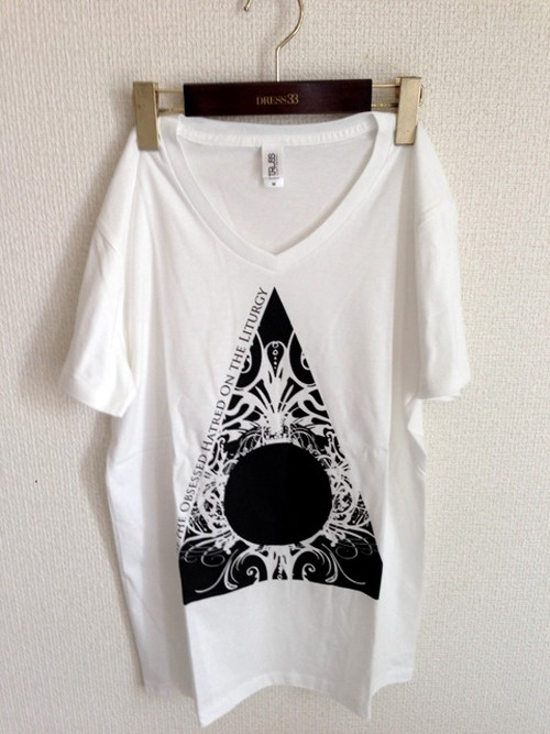 T-shirts 「Void in Flame」White (V-neck)