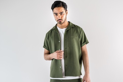 ThreeArrows  Resort S/S shirt(khaki)