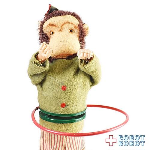 フラフープお猿 ゼンマイ人形