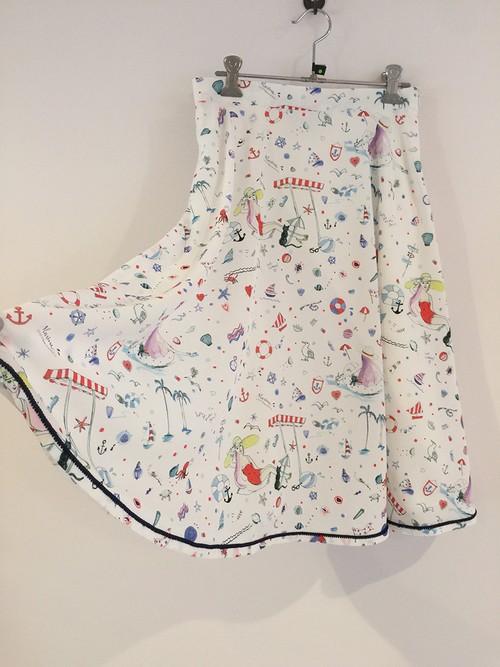 MARINE フレアースカート