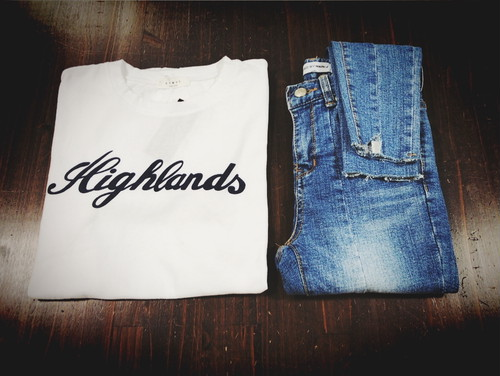 "【SALE】☆30%OFF☆""Highlands""/プリント/tee/ホワイト/501-70787"