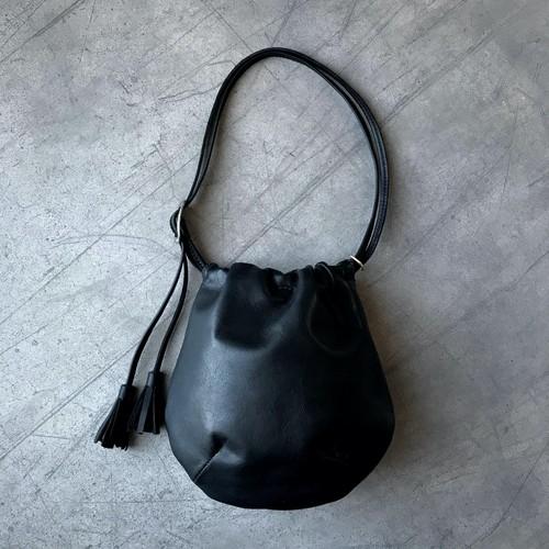 ensemble - Leather bag mini / Nero
