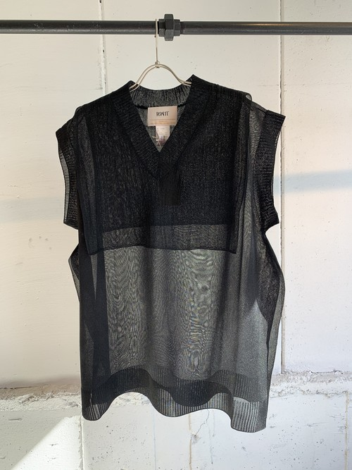 PONTI SEE THROUGH BIG VEST