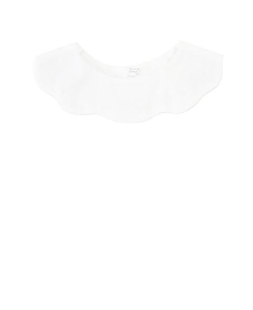 Claudine & Compagnie/クロディーヌ&カンパニー - Lucette 雲型 付け襟 (ホワイトピケモチーフ)