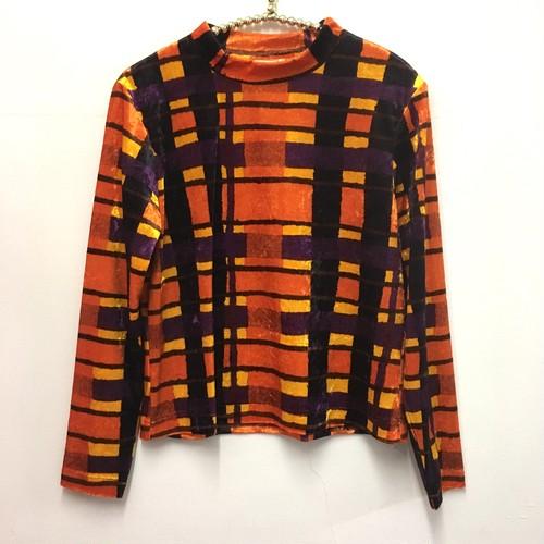 geometric pattern velour top