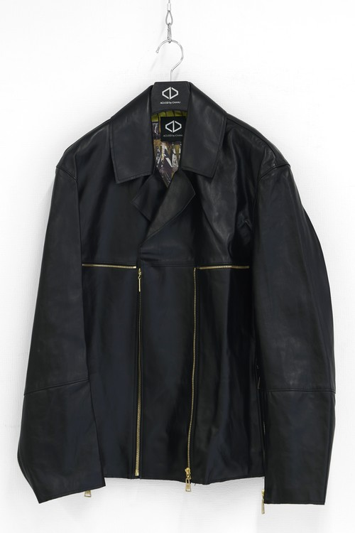 Zip Riders Jacket (Black/Gold)