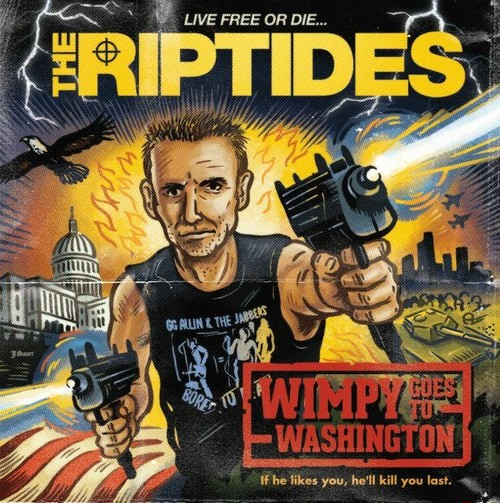 """the riptides / wimpy goes to washington 7"""" COLORED vinyl"""