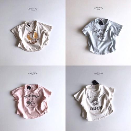 ディズニーイラストTシャツ4color