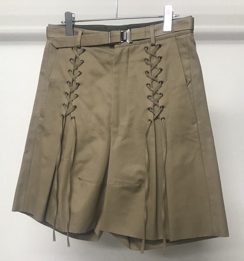 SS2012 YSL BY STEFANO PILATI LACE UP SHORTS