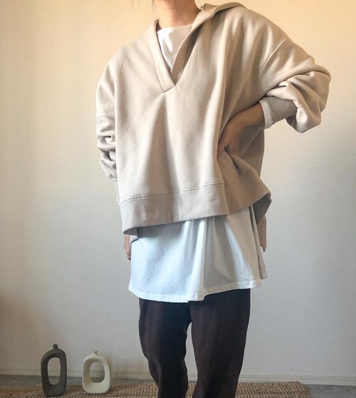 【beige】バックシャンパーカー