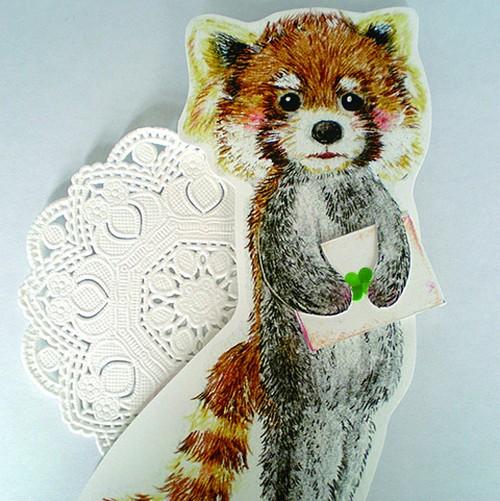 レッサーパンダのお手紙カード