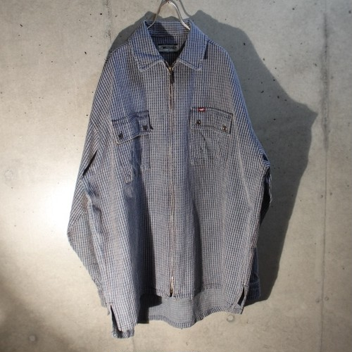 Cotton Zip Up Shirt Jacket