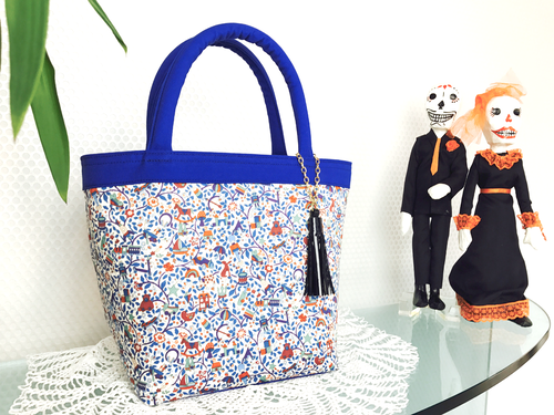 Toy Garden BLUE From60 x LIBERTY  Tote TypeT