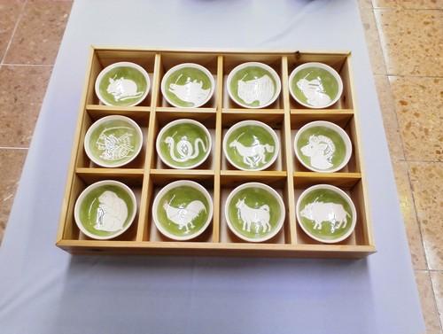 佐土原焼 12干支 盃(さかずき)