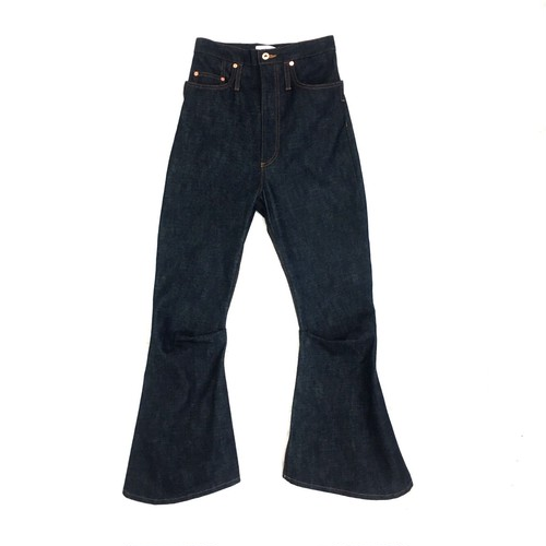 KOZABURO BOOTS CUT DENIM TROUSERS