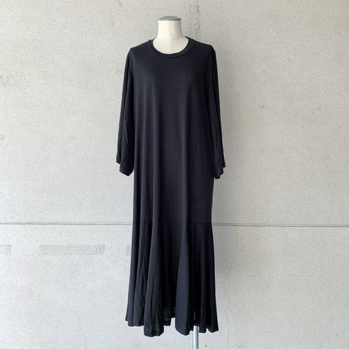 【HENRIK VIBSKOV】STREAM JERSEY DRESS /BLACK/No.49-21-C