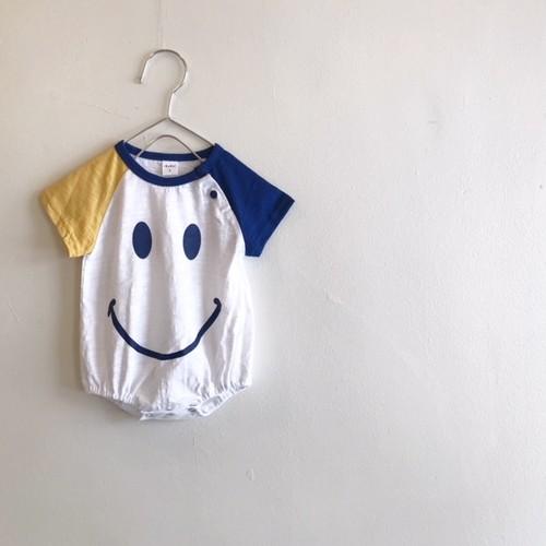 スマイルロンパース☆イエロー&ロイヤルブルー