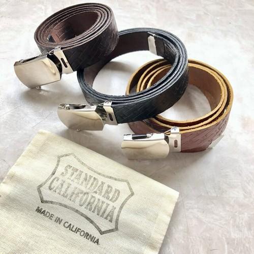 スタンダードカリフォルニア SD Made in USA Easy Leather Belt Type 2 レザーイージーベルト タイプ2