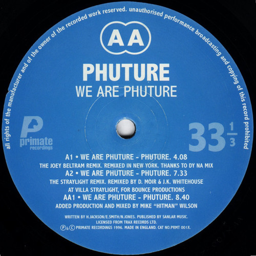 PHUTURE / We Are Phuture Remix EP (12 inch)