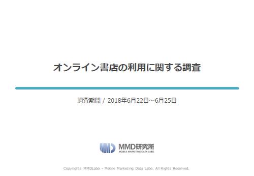 【MMD研究所自主調査】オンライン書店の利用に関する調査