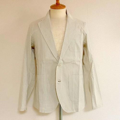 Seersucker 2B Tailored Jacket Gray