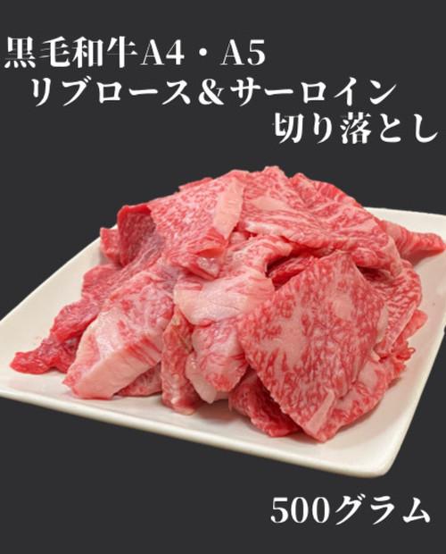 黒毛和牛(A4・A5)焼肉セット 切り落とし肉 〜リブロースとサーロインの切り落とし〜 500g