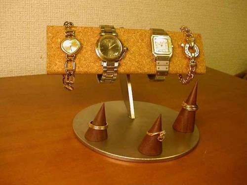 4本掛け半円腕時計スタンド トリプルリングスタンド IMG0194