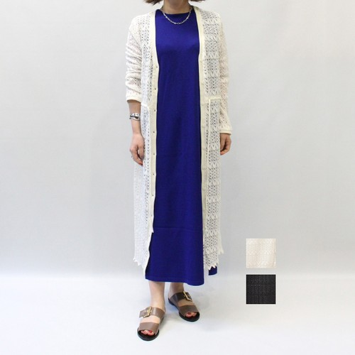 [SALE] OUTERSUNSET(アウターサンセット) pattern long cardigan 2020春物新作