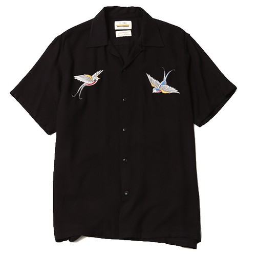 """SWALLOW SHIRT artwork by H.U. ""(BLACK) / RUDE GALLERY BLACK REBEL"