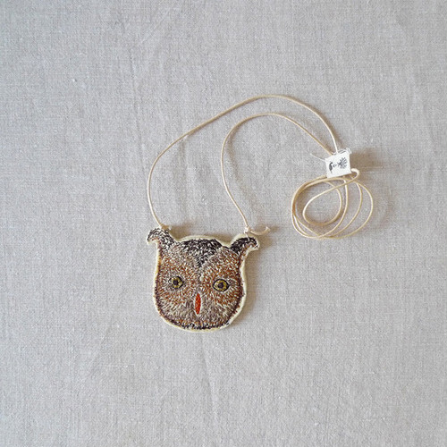 CORAL & TUSK Owl Pouch Necklace