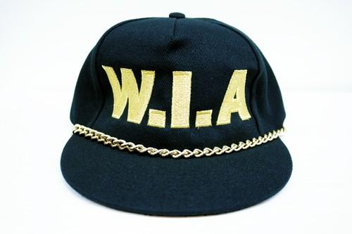 W.I.A W.I.A RICH CAP ダブルアイエー リッチ キャップ / BLACK 50%OFF