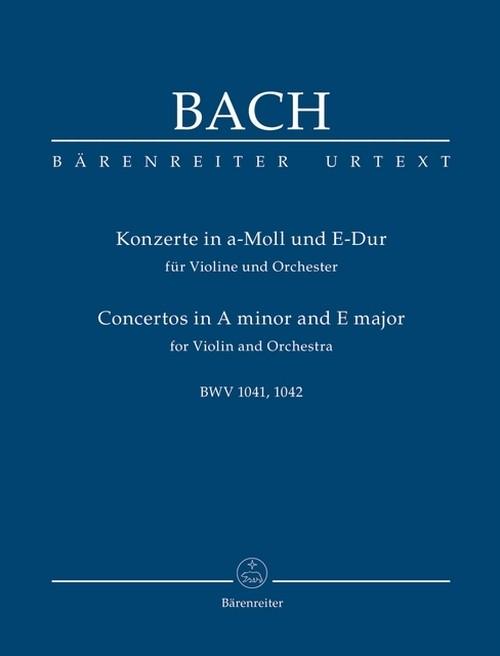 J.S.バッハ:ヴァイオリン協奏曲第1番、第2番 BWV1041,1042 / ミニチュアスコア