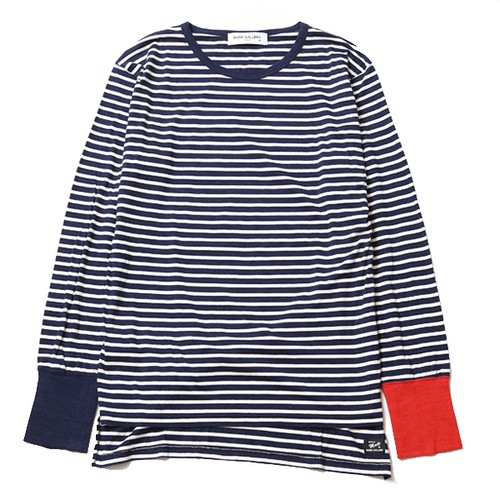 LONG RIB BORDER L/S (NAVY/WHITE) / RUDE GALLERY