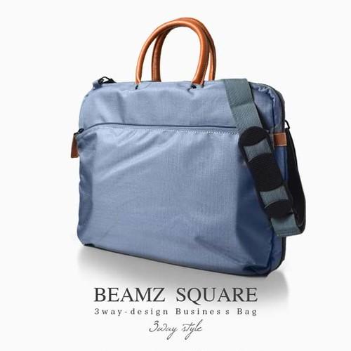 ビームズスクエア BEAMZSQUARE メンズ 3Way ブリーフケース BZSQ-735GY グレー グレー