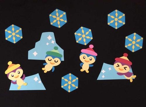 【冬の壁面装飾】冬はペンギンの独壇場となった