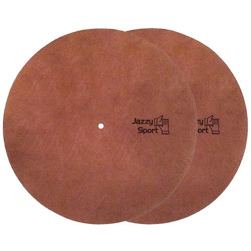 JS 12インチレザースリップマット(2枚組)/ブラウン