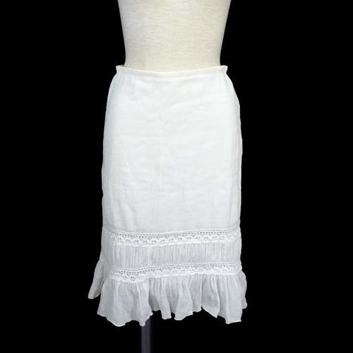vintage ホワイトコットンレーススカート