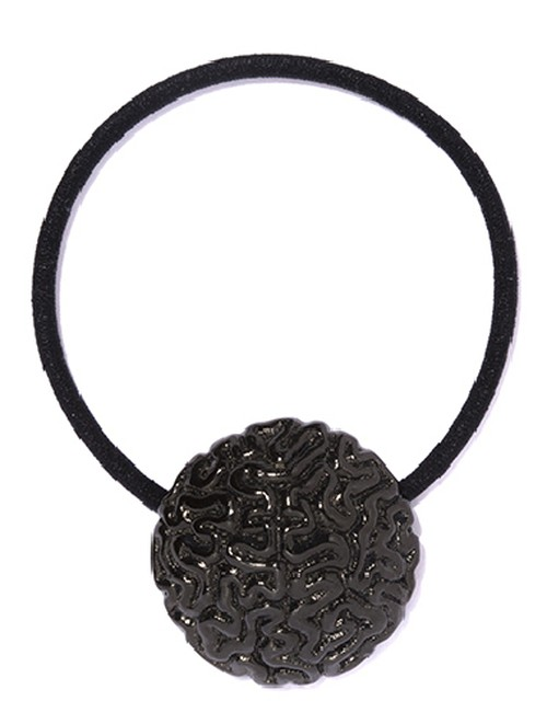 Brain Concho Hair Bands  Black Coating