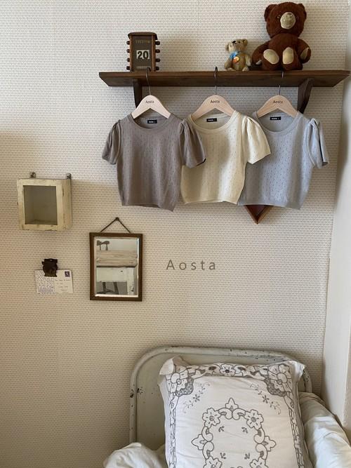 【予約販売】balloon knit tops〈Aosta〉