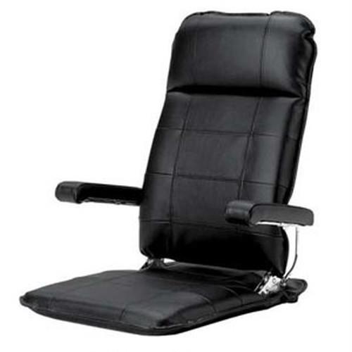 お父さんの本革座椅子ブラック色