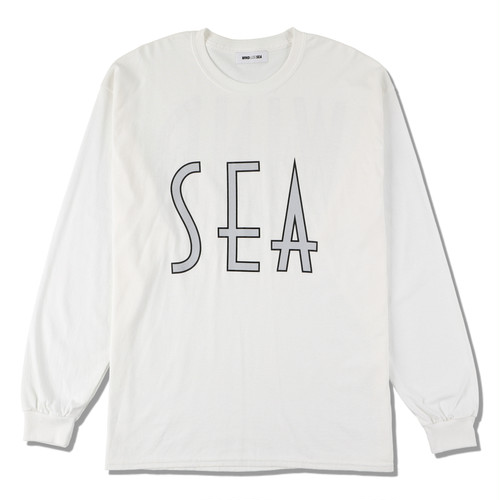 SEA (wavy) L/S T-SHIRT (WDS-20A-TPS-06) WIND AND SEA WHITE