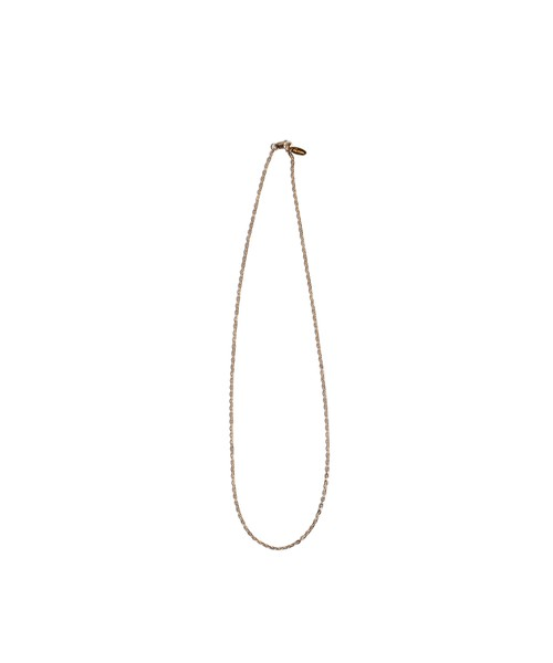 14KGF FLAT CABLE CHAIN NECKLACE 45cm [REA091]