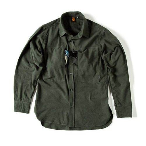 GRIP SWANY FLANNEL CAMP SHIRT GSS-26 OLIVE