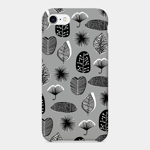 【Leaves-mono】 phone case (iPhone / android)