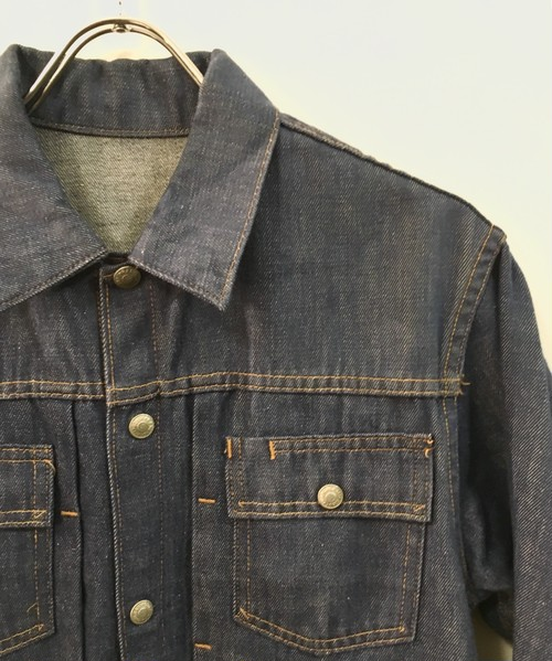 RANCH CRAFT : vat dye denim jacket (used)