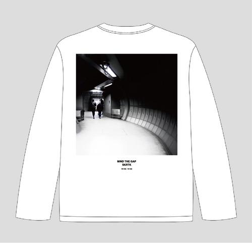 Setsuya Kurotaki/'MIND THE GAP' long sleeve T-shirts(03_WHITE) 送料込み