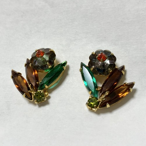 Vintage Christmas Color Bijoux Earrings