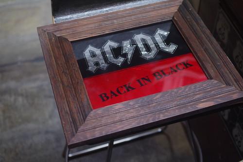 AC/DC BACK IN BLACK エーシーデーシー ビンテージ 額縁