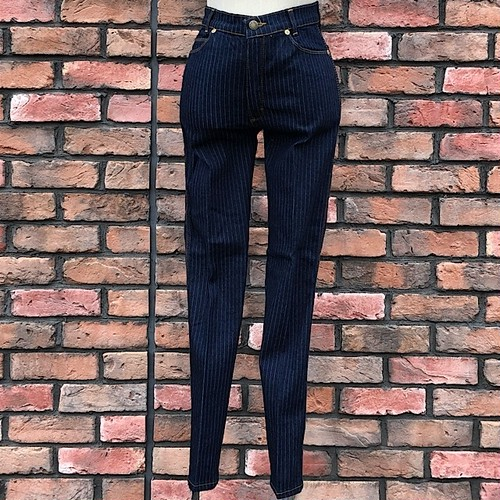 1990s Deadstock Europa Striped Jeans Made In England W28